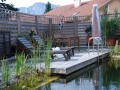 Sitzplatz am Schwimmteich, Holzterrasse