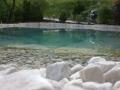 Wasser im Garten, Biotop, Blick über die Wasseroberfläche