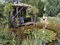 Wasser im Garten, Biotop, Seeroen, Blick auf den Sitzplatz