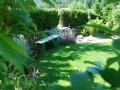versteckter Sitzplatz im Garten