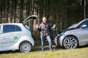 Die E-Mobile des Service-Gärtners
