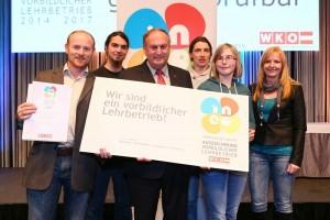 ineo Preis Lehrlingsausbildung Oberösterreich mit Rudi Trauner WKO